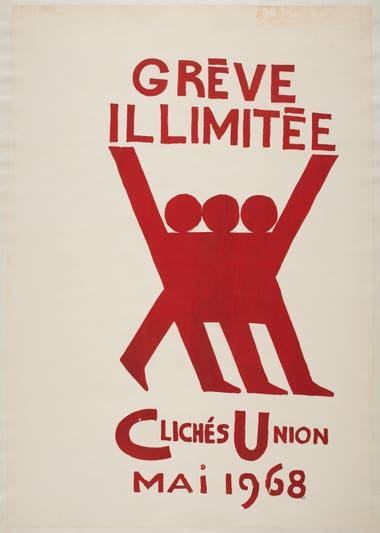 Imágenes icónicas. Afiche en favor de la huelga coparon París