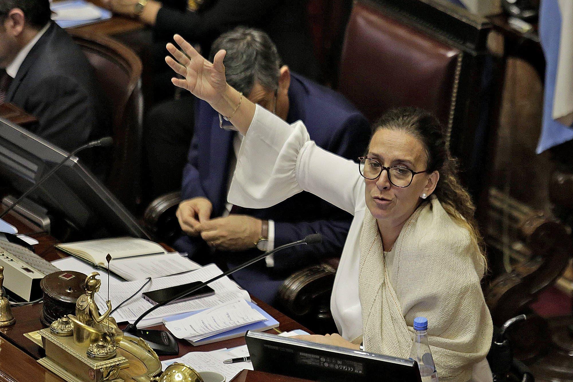 Aborto: Gabriela Michetti dejó el micrófono abierto y se la escuchó insultar en pleno debate