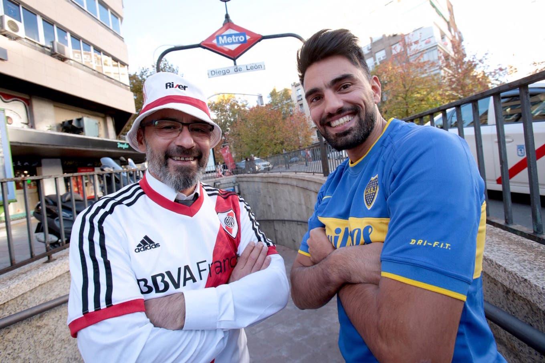 En Madrid, como en Buenos Aires: el banderazo y la caravana que preparan los hinchas de River y Boca