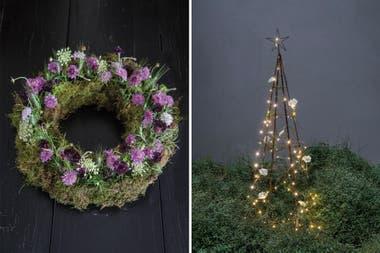 Cómo Hacer Arreglos Florales Y Un árbol De Navidad Con