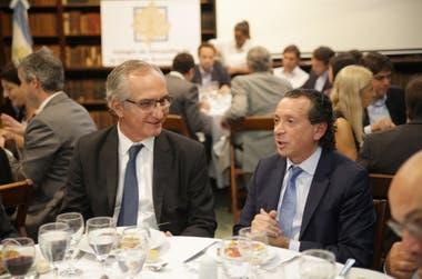 El ministro de Producción y Trabajo, Dante Sica, junto al abogado Guillermo Lipera