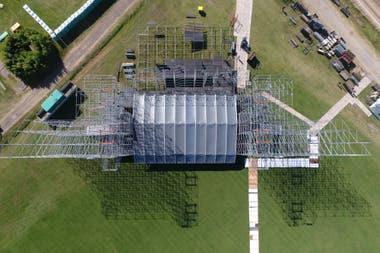 Vista aérea del escenario principal