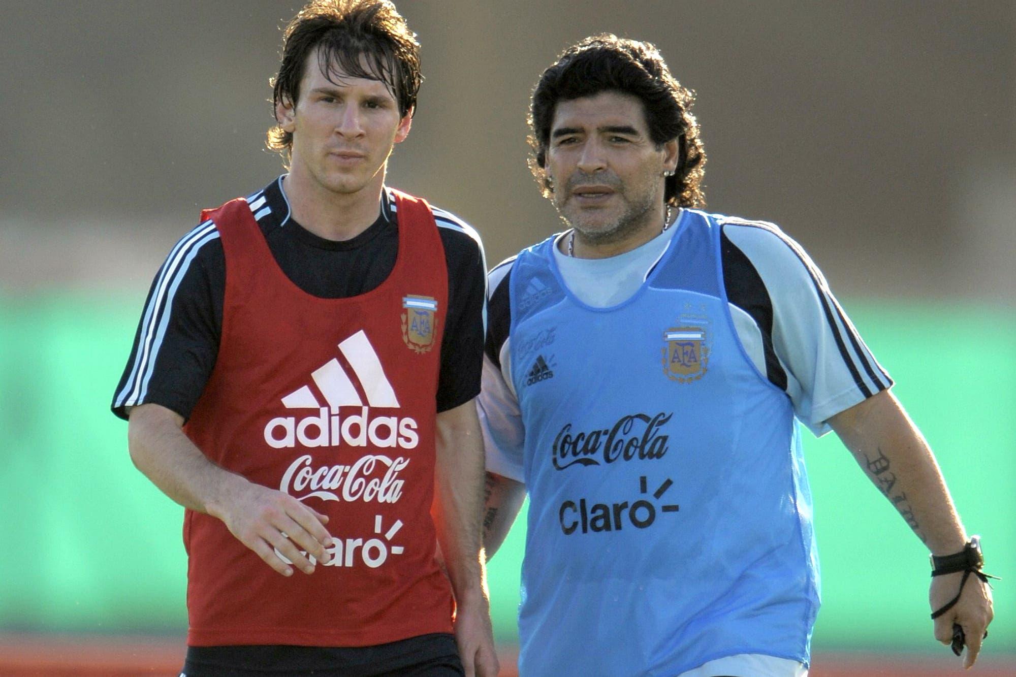 De Marsella a Barcelona: el día que Maradona le enseñó a Messi a patear tiros libres