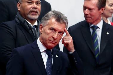 El presidente Macri junto al primer ministro de los Países Bajos, Mark Rutte, durante la Cumbre de Cambio Climático, en Madrid