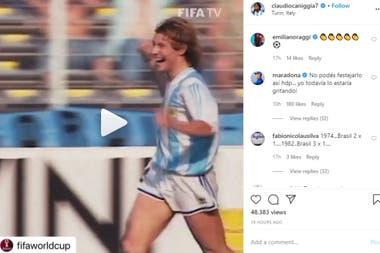El posteo de Caniggia y el comentario de Maradona, en el tercer lugar