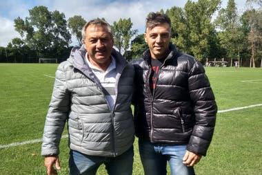 Oscar Garré, jugador con más presencias en la historia del club, integra la secretaría técnica junto a Alejandro Saccardi, hijo de Gerónimo, una de las glorias verdolagas.