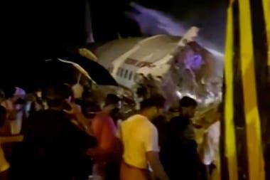 El avión estrellado en el estado sureño de Kerala, en la India