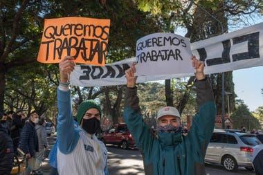 El domingo habrá una nueva marcha de los trabajadores del tenis a la Quinta de Olivos