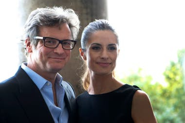 Colin Firth y su exmujer, Livia Giuggioli, años atrás, antes del escándalo que motivó su separación