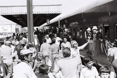 La despedida del tren en Junín: una fiesta Verde