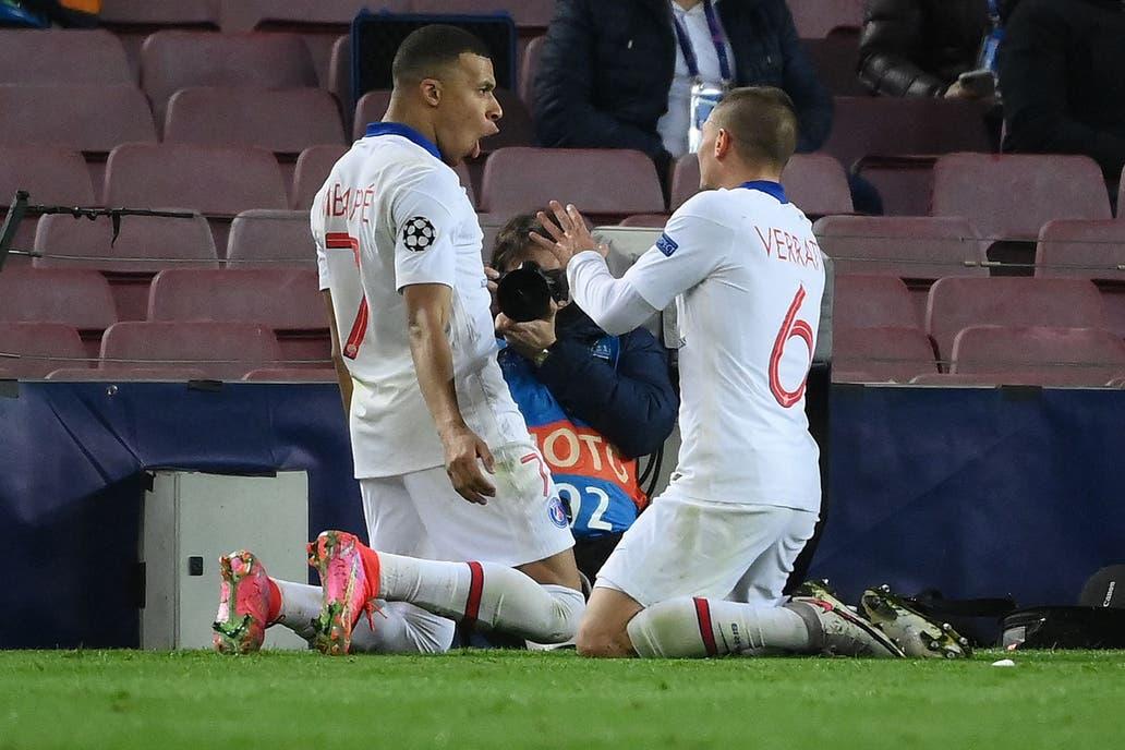 PSG golea a Barcelona con hat trick de Kylian Mbappé, los Culés deberán ganar por cuatro goles en la vuelta para avanzar