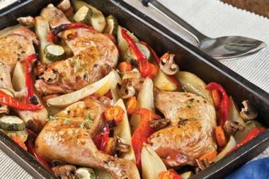 Pollo con hortalizas