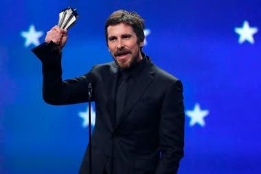 Christian Bale, otro de los ganadores de la noche