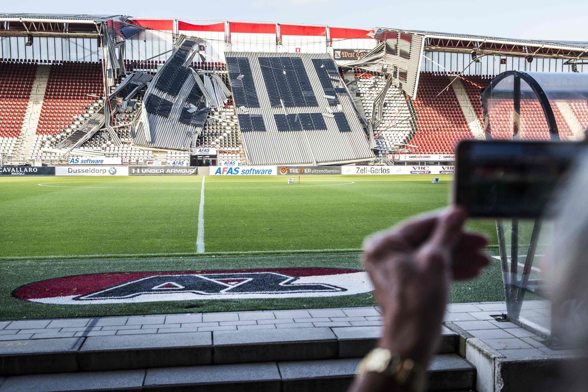 El derrumbe en un estadio que pudo ser una tragedia