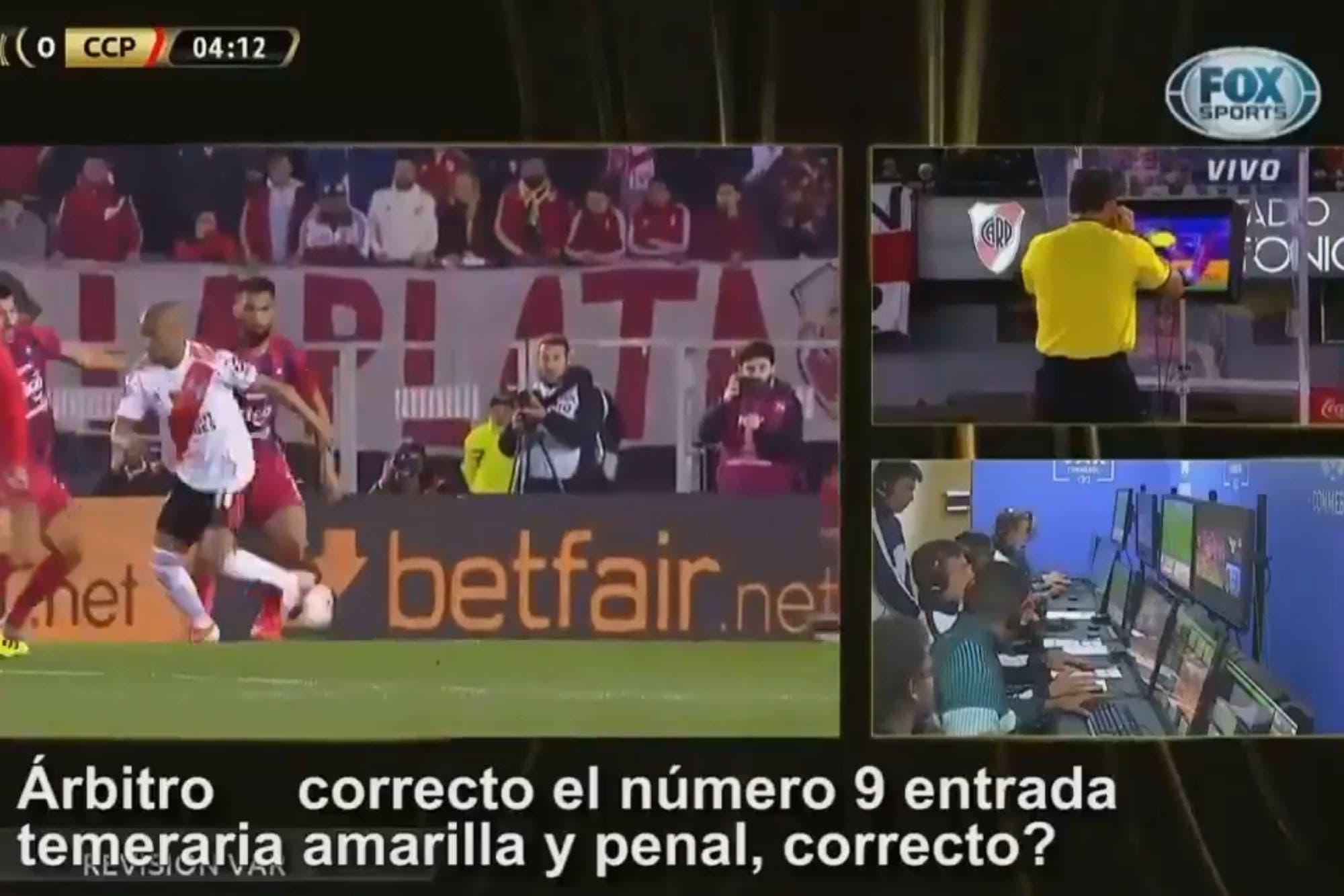 River-Cerro Porteño: Se filtró el diálogo entre el árbitro y la sala del VAR antes de la sanción del polémico penal
