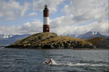 Matías Ola está acostumbrado a nadar en aguas heladas