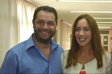Juan María Cravero, junto a María Eugenia Vidal
