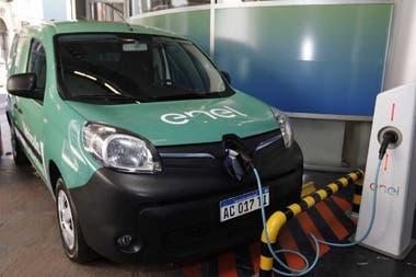 Una estación de carga para un auto eléctrico