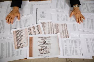 Los documentos que encontró el investigador Pedro Filipuzzi