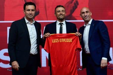 Luis Enrique cuando asumió como entrenador del seleccionado español