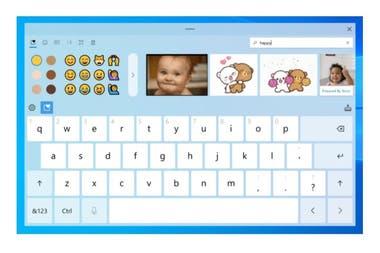 El nuevo teclado en pantalla de Windows 10, con buscador de GIFs y una mejora en el dictado por voz