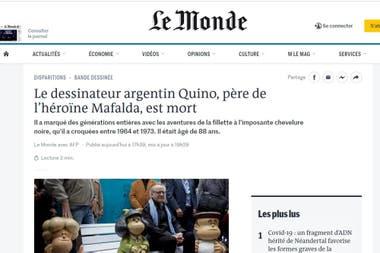 """El diario Le Monde habló de la """"imponente cabellera negra"""" de Mafalda"""