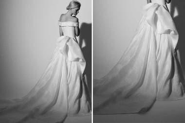 Como acomodar la cola del vestido de novia