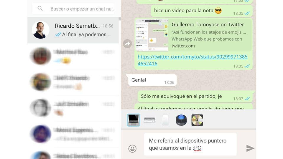 Whatsapp Web Ahora Permite Atajos Para Escribir Emojis La
