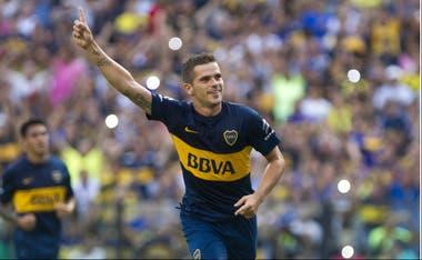 Gago y un momento de felicidad en Boca, el club que marcó su carrera