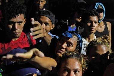 Una de las caravanas que partió el año pasado de Honduras para llegar a la frontera de México con Estados Unidos
