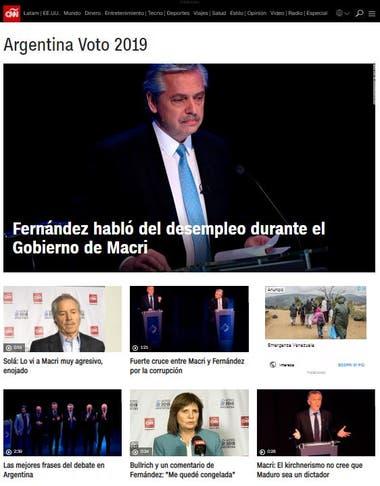 La cadena estadounidense realizó una amplia cobertura en vivo y entrevistó a algunos referentes post debate