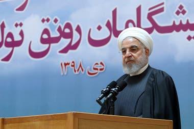 El presidente iraní, Hassan Rohani, amenazó con tomar medidas
