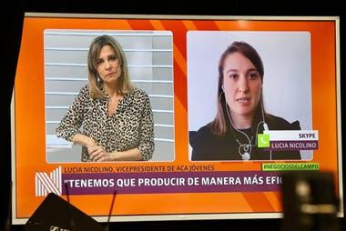 En diálogo con Carla Quiroga (LA NACION), Lucía Nicolino, vicepresidenta de ACA Jóvenes, aseguró que las nuevas generaciones se involucran mucho en temas ambientales en la producción