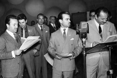 Cacho Fontana, Delfor Raul Rossi y Hector Ferreyra