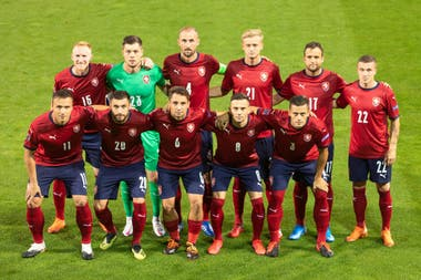 Los 11 titulares del combinado de República Checa conformado por jugadores que no habían tenido experiencia internacional