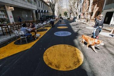 La peatonalización en el barrio de Palermo