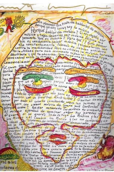 Texto que escribió Luis Alberto Spinetta en un diario under de Marta Minujín
