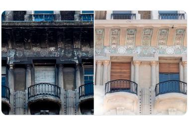 El antes y después de los balcones