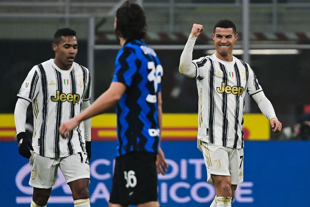 Juventus vence a Inter de Milán y se acerca a la final de la Coppa de Italia, Cristiano Ronaldo anotó un doblete