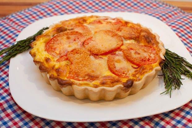 Receta de Tarta de tomates redondos y roquefort