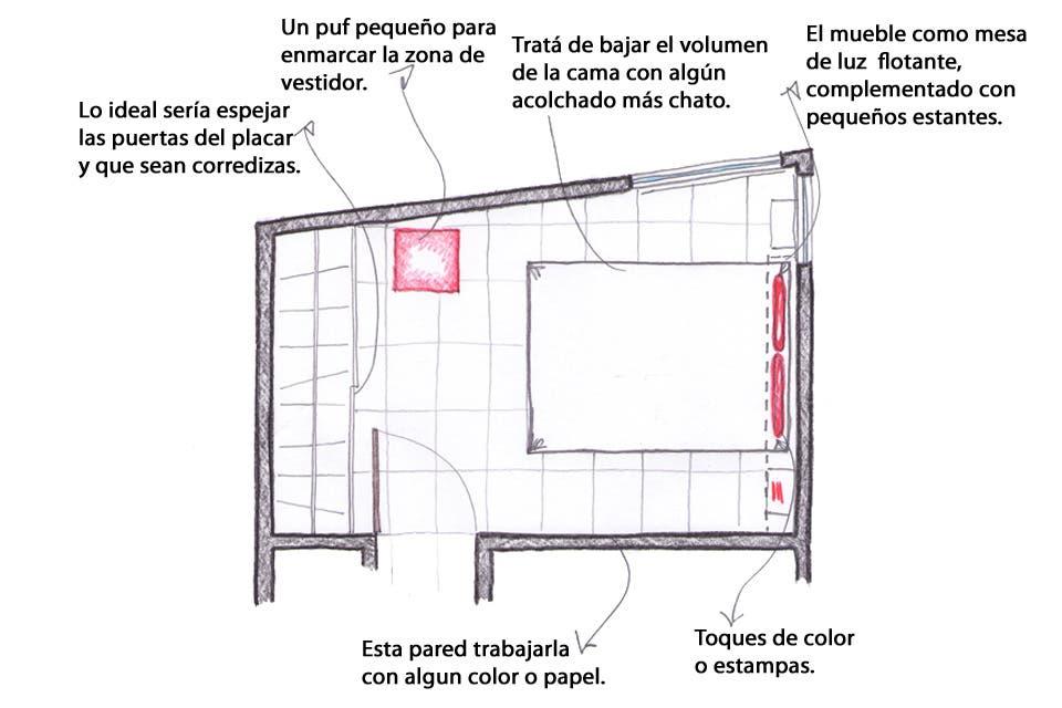 Solución 112: cómo decorar un dormitorio pequeño sin saturarlo - LA ...