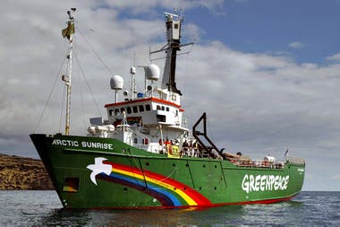 "El buque ""Artic Sunrise"" de Greenpeace"