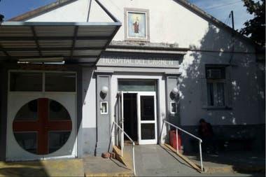 El frente del hospital municipal, donde María Muñoz fue dada por muerta el jueves pasado y donde murió hoy