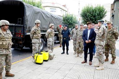 Hoy desembarcaron efectivos de las fuerzas armadas en La Matanza