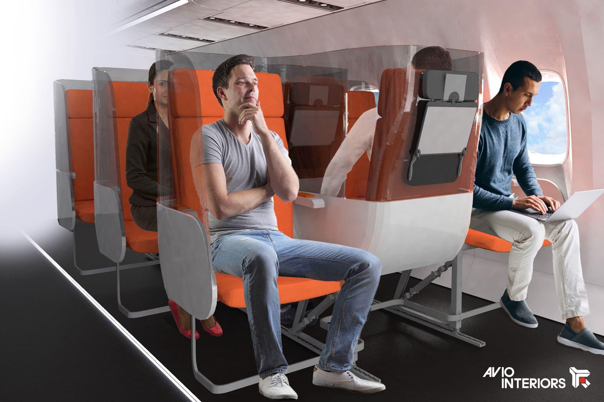 Enfrentados y con mamparas: así podrían ser los próximos viajes en avión