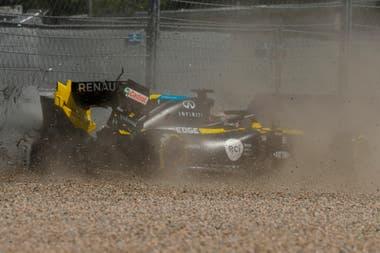 El accidente de Daniel Ricciardo, en las pruebas de hoy