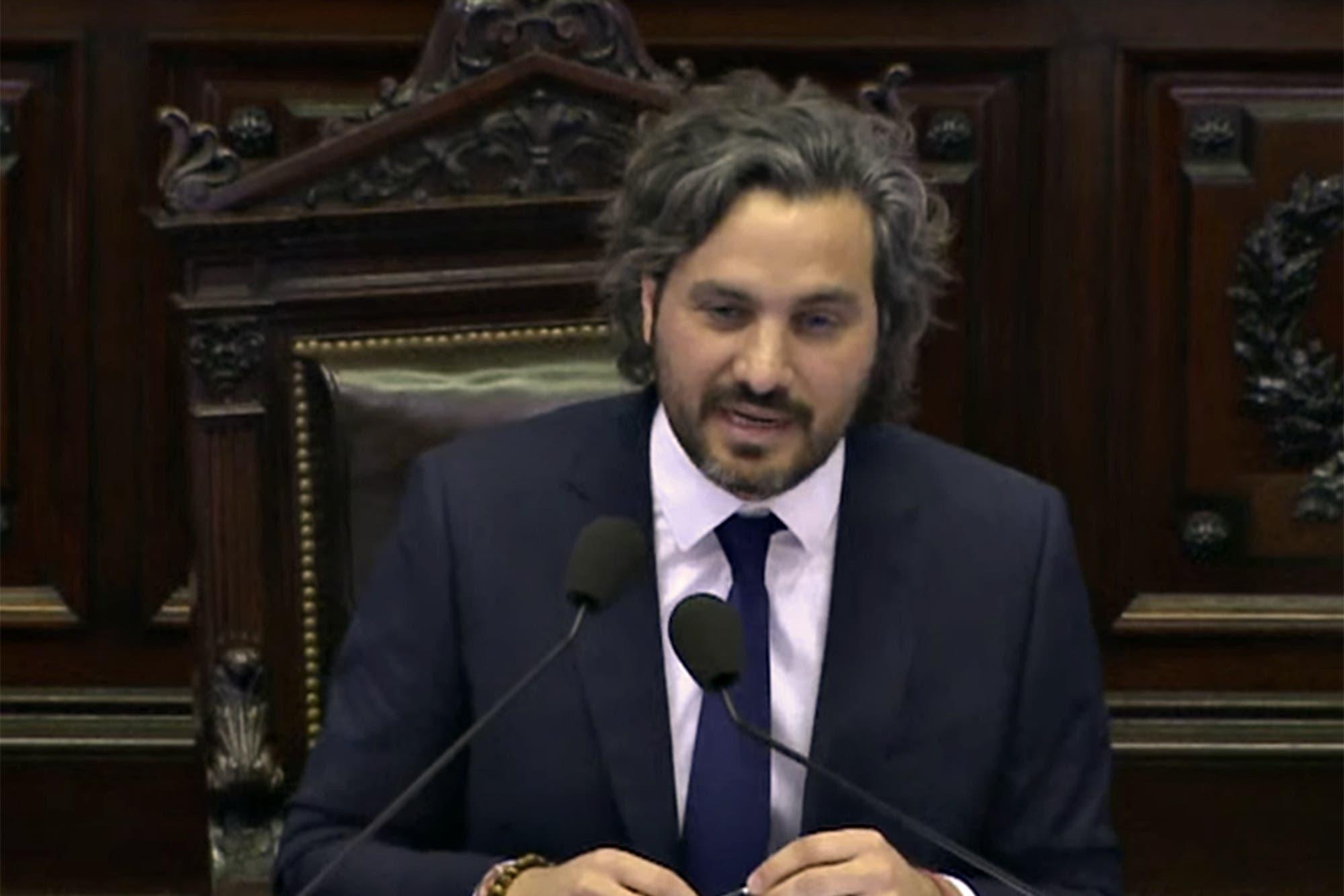Tensión, reproches y críticas cruzadas en el debut de Santiago Cafiero en la Cámara de Diputados