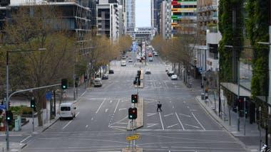 Las calles de Melbourne se vaciaron durante el confinamiento.
