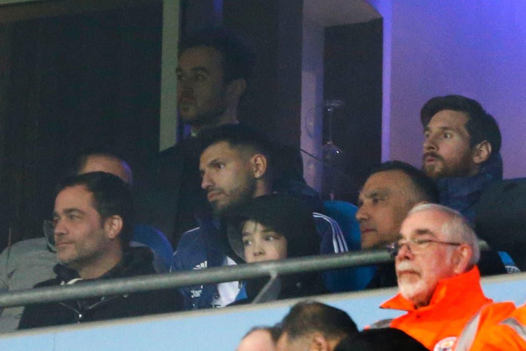 El actor argentino sorprendió con su presencia en el palco del Etihad Stadium de Manchester