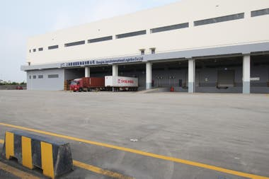El hub en el Shanghai Juerui International Logistics